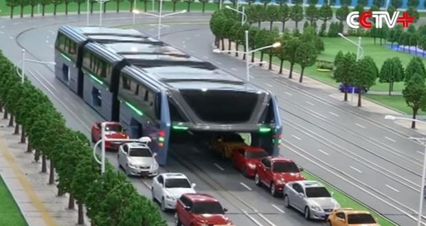 مجسم الحافلة الصينية الجديدة