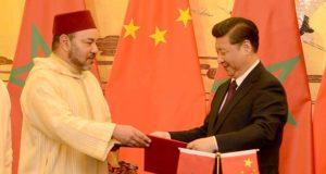 الملك محمد السادس رفقة الرئيس الصيني