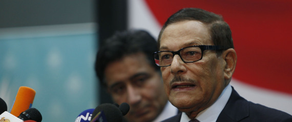 Two senior officials of Egypt's ruling National Democratic Party, NDP, Safwat el-Sherif, right and Ahmed Ezz attend a press conference at the party's headquarters in Cairo, Egypt Wednesday, Dec. 1, 2010. Egypt's top two opposition movements on Wednesday pulled out of parliamentary elections after they were all but shut out in a first round of voting, in a surprise response to widespread allegations of fraud. (AP Photo/Nasser Nasser)