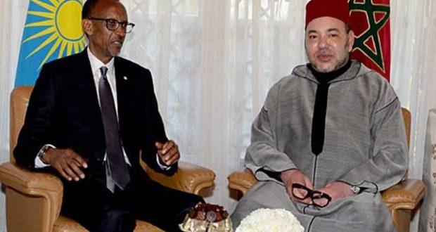 العاهل المغربي و الرئيس الرواندي