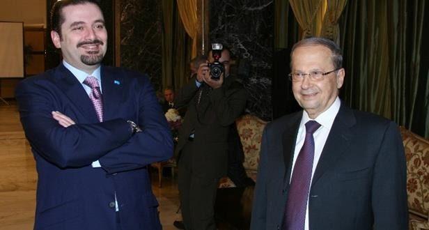 ميشال عون و سعد الحريري